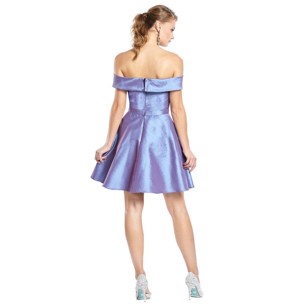 Albian vestido corto off shoulder cruzado