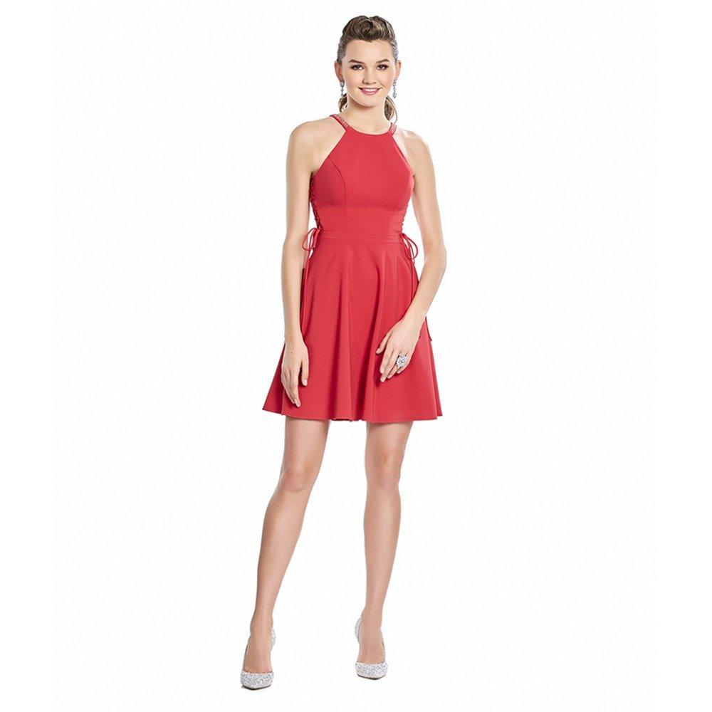 Marcia vestido corto sin mangas cuello halter