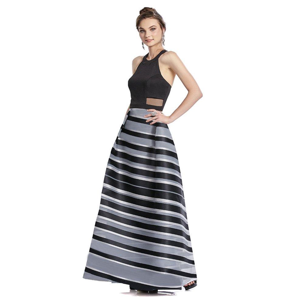Paula vestido largo con transparencias y escote en espalda