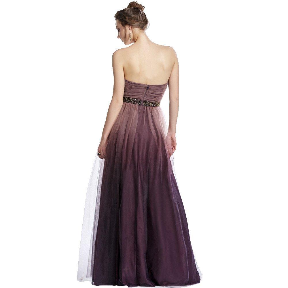 Inés vestido largo de tul strapless