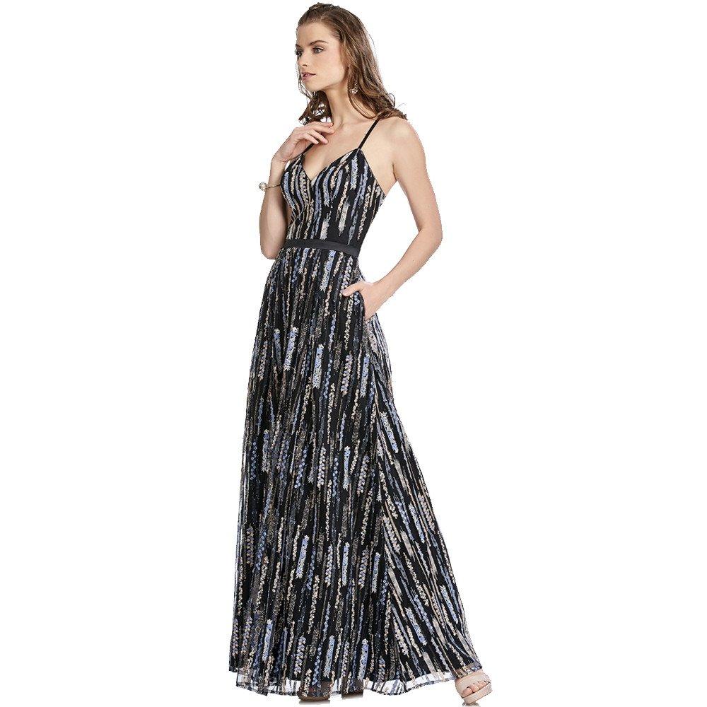 Julia vestido largo bordado de tirantes