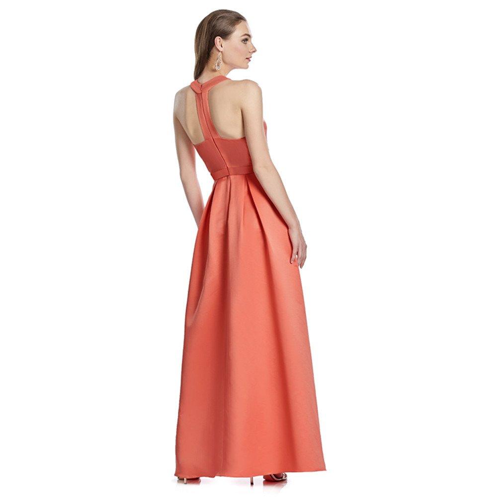 Valeria vestido largo escote ojal y transparencias en costados