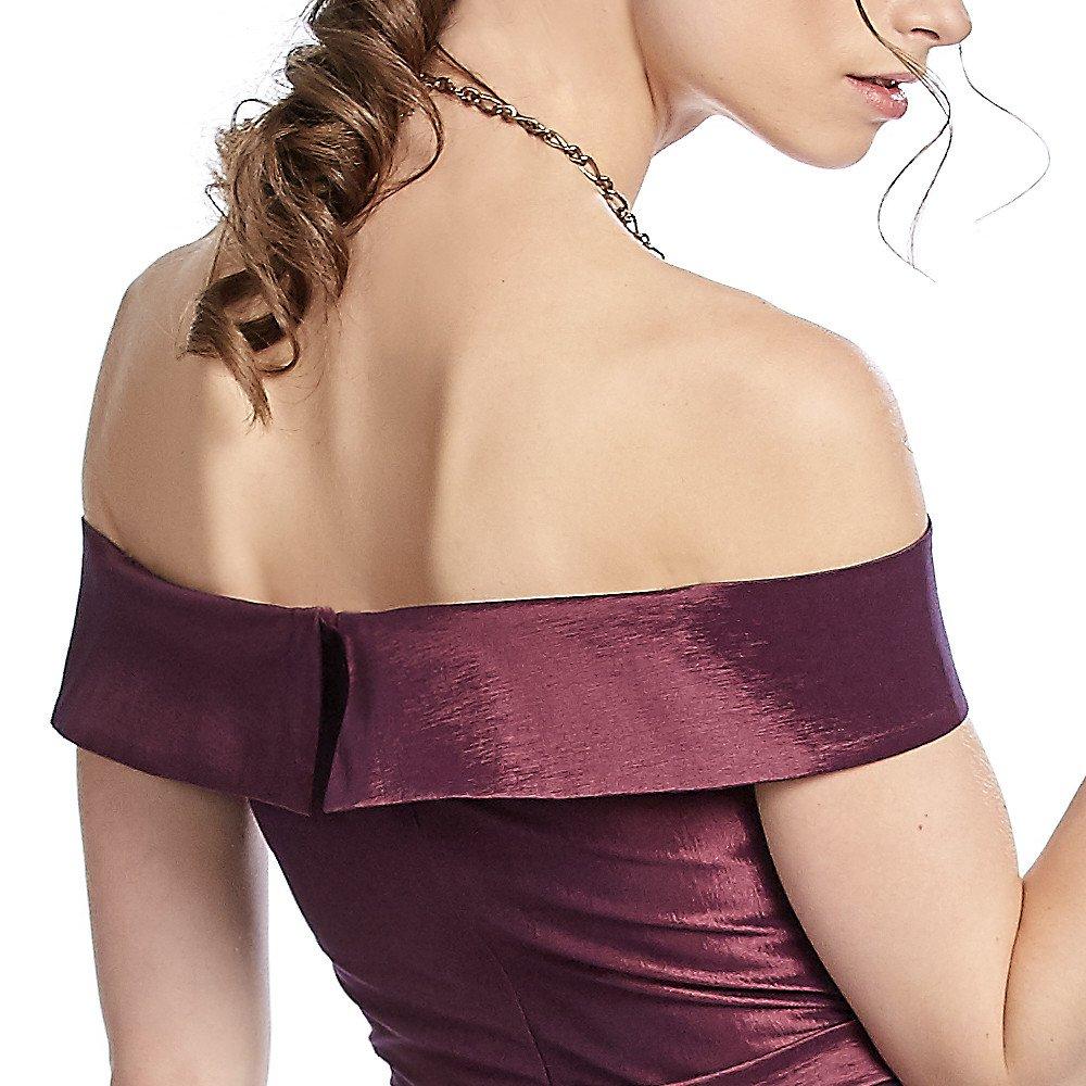 Brunela vestido largo strapless  y falda línea A