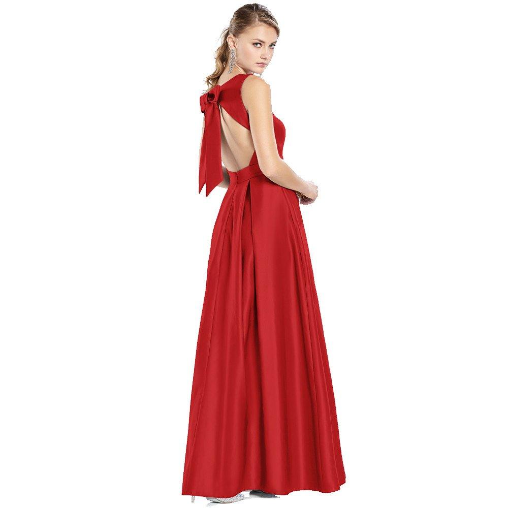 Victoria vestido largo con detalle de moño en espalda