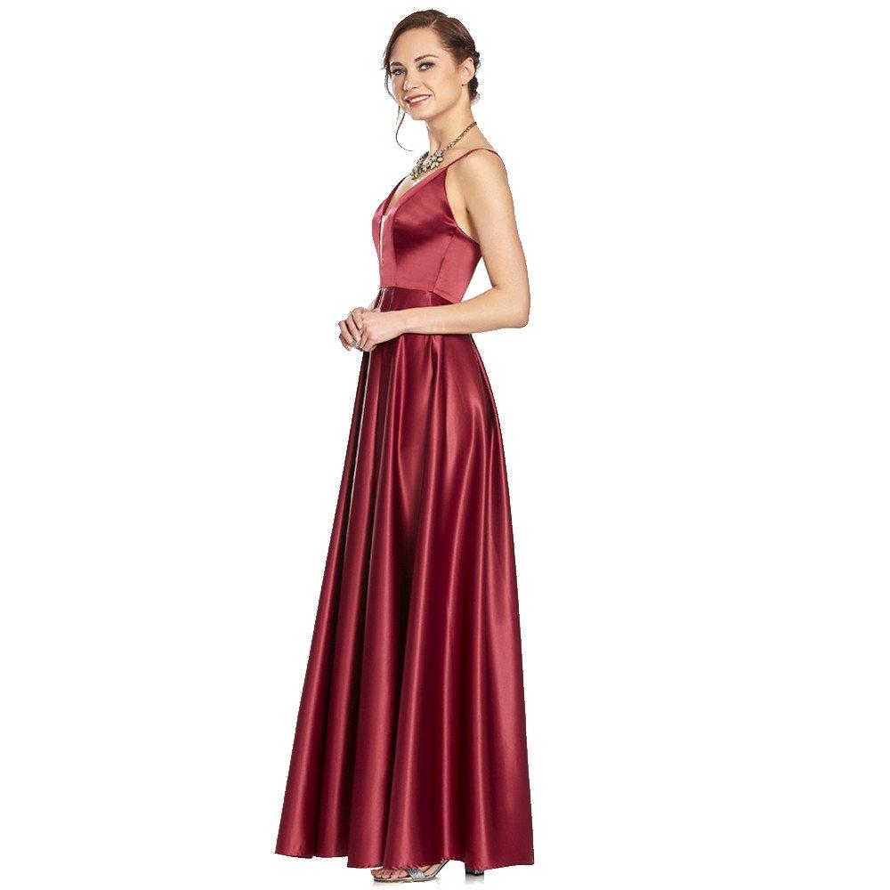 Ella vestido largo de tirantes con escote V