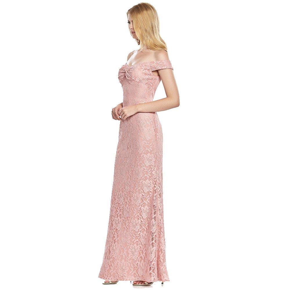 Katerina vestido largo de encaje off-the-shoulder