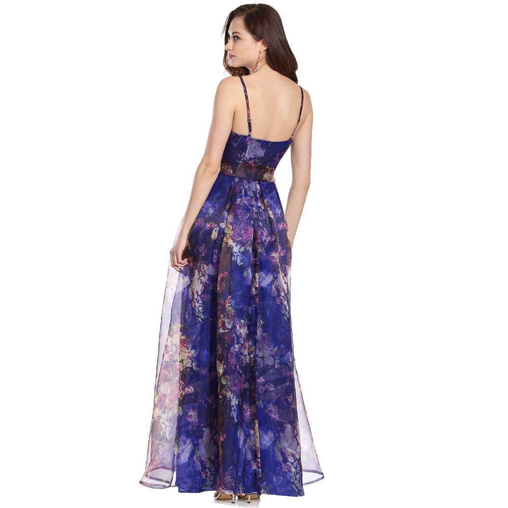 Federica vestido largo de organza con moño alrededor de cintura