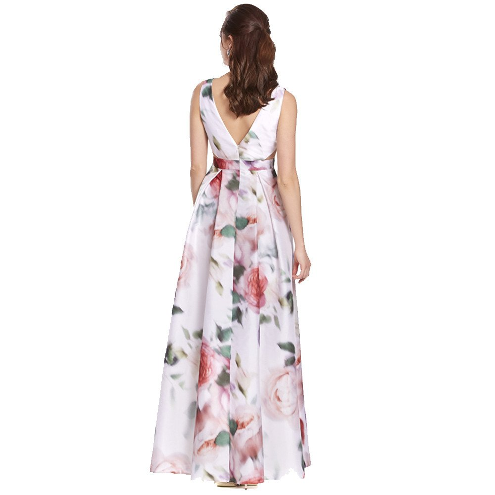 Helen vestido largo estampado con escote V