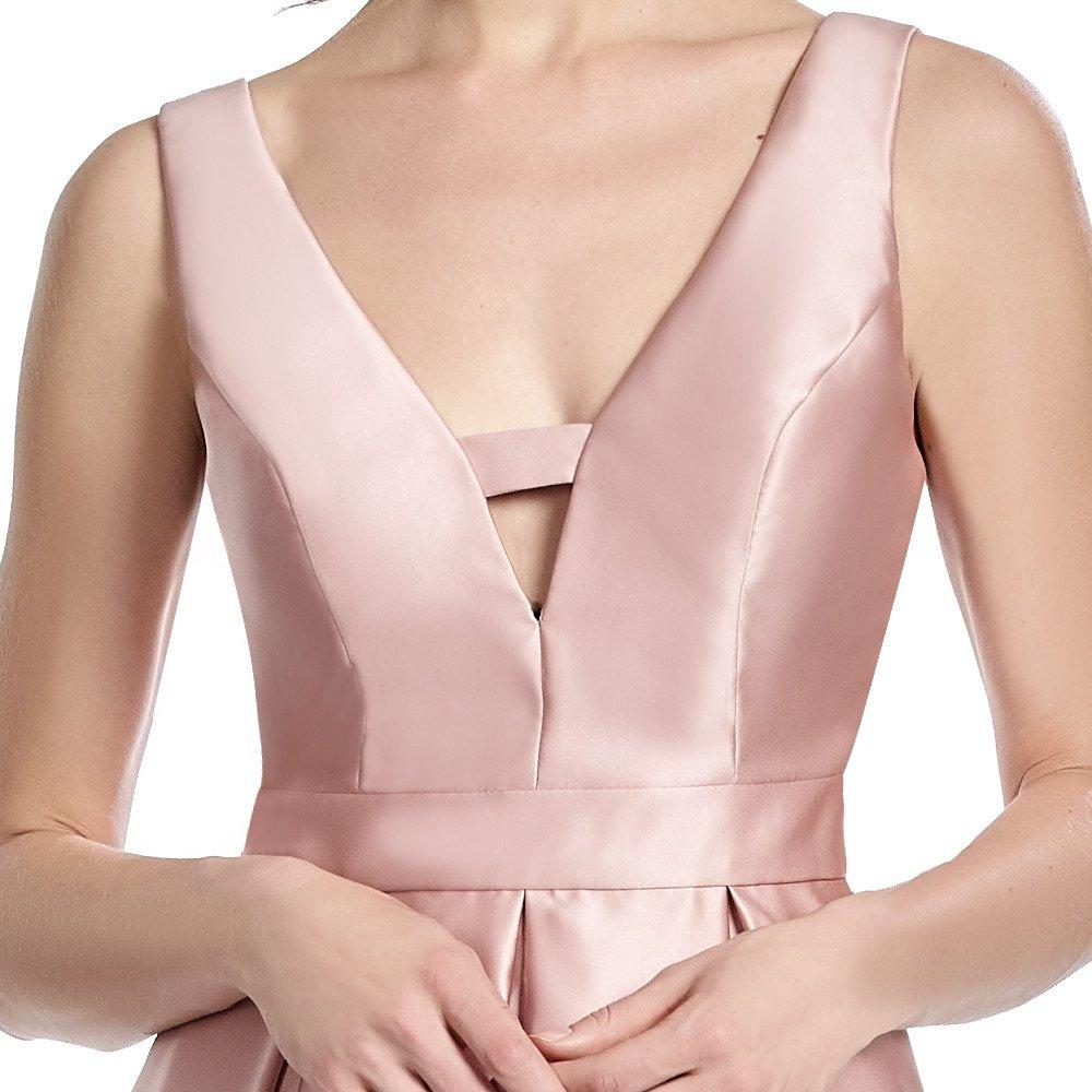 Lavinia vestido corto de raso con escote V