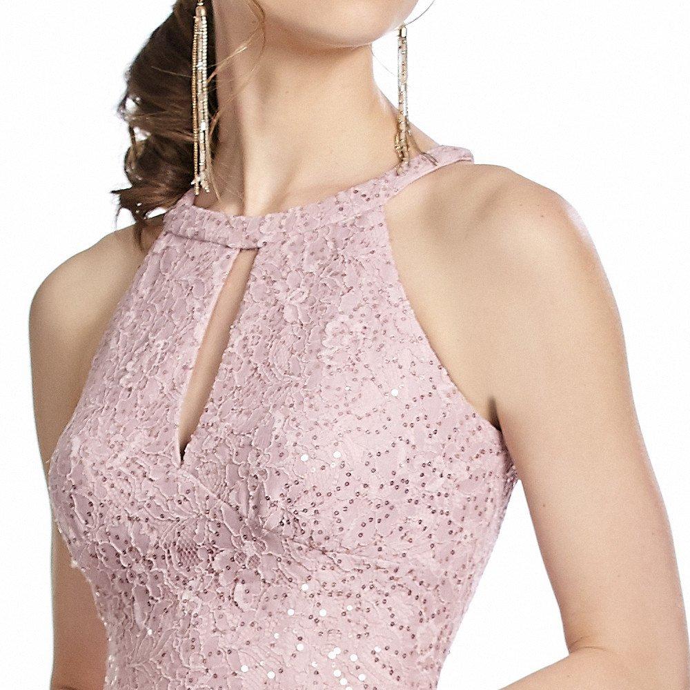 Salma vestido corto cuello halter cut out al frente