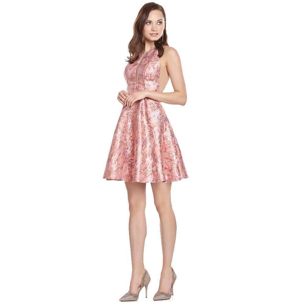 Wendy vestido corto estampado con transparencias