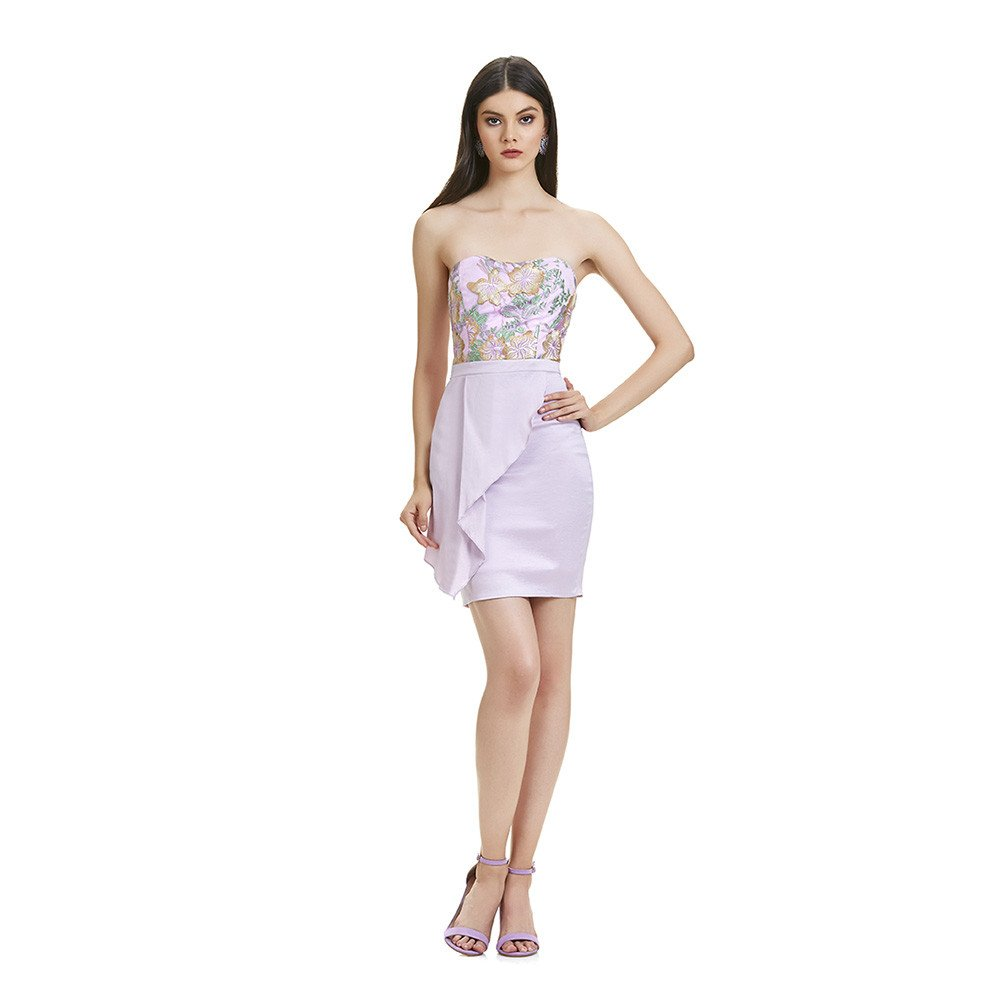 Alana vestido corto falda ajustada strapless