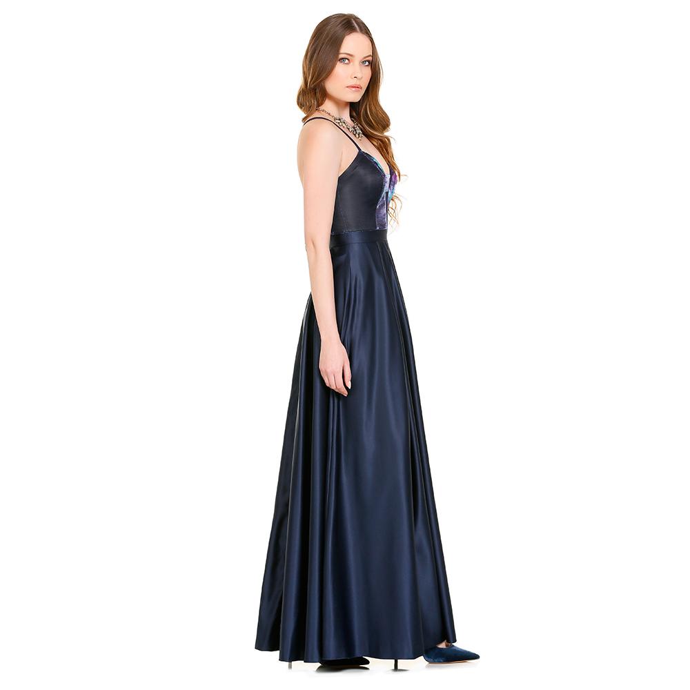 Amal vestido largo tornasol
