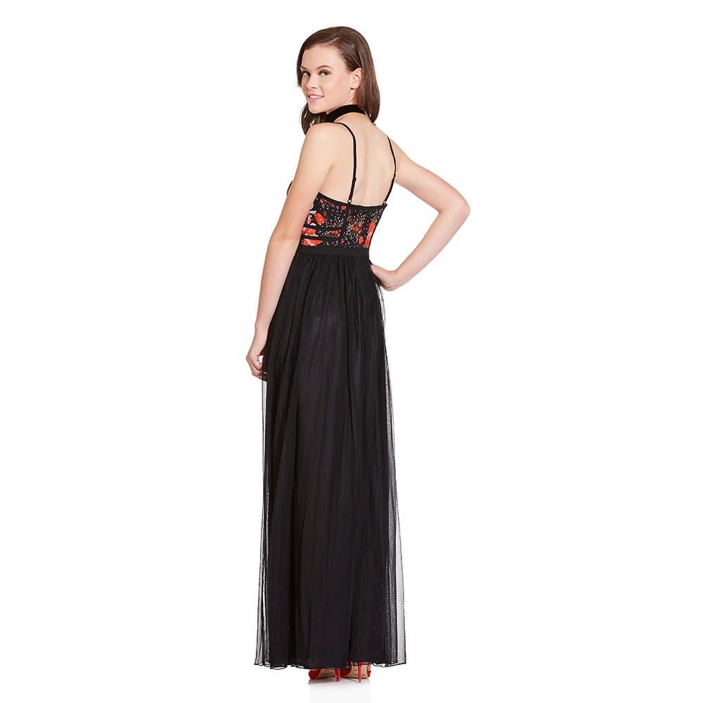 Astrid vestido largo corset floral