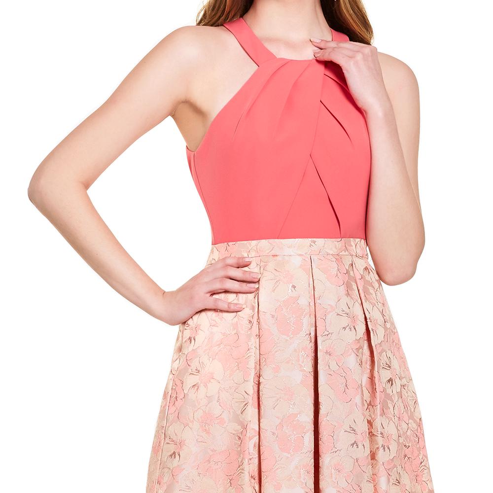 Ayla vestido largo halter floral