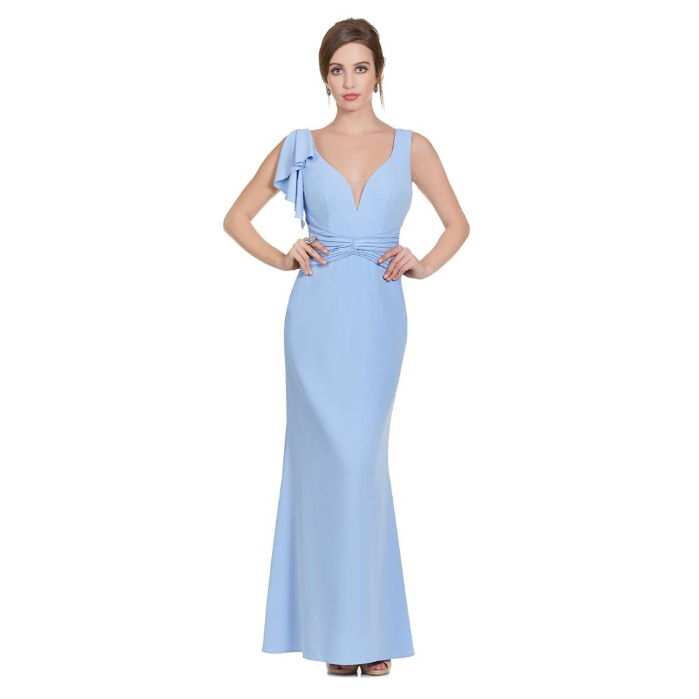Catalina vestido largo escote V