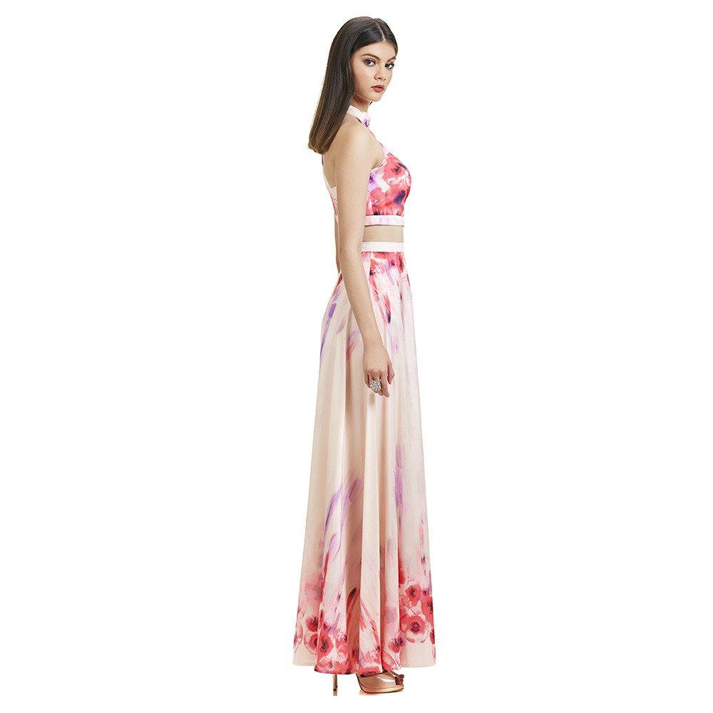 Cecilia vestido largo crop top floral