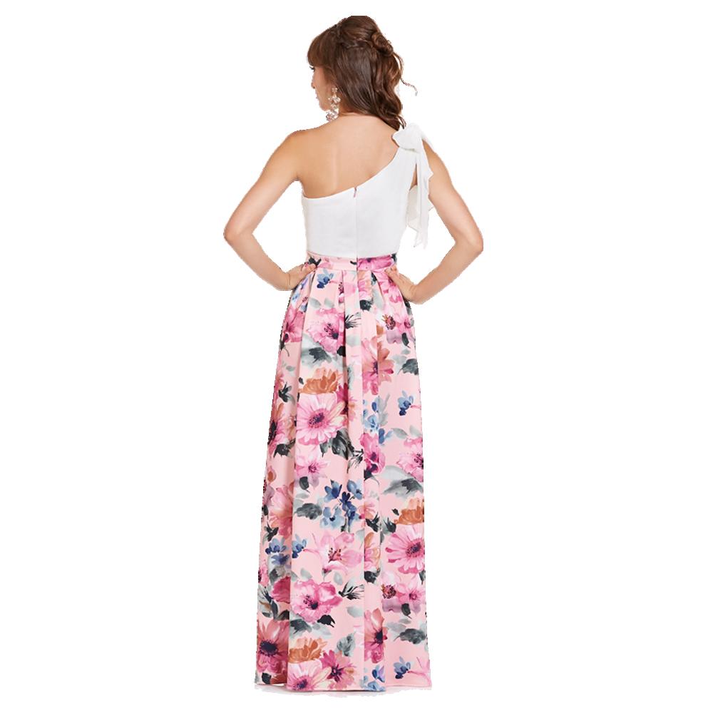 Clara vestido largo un hombro