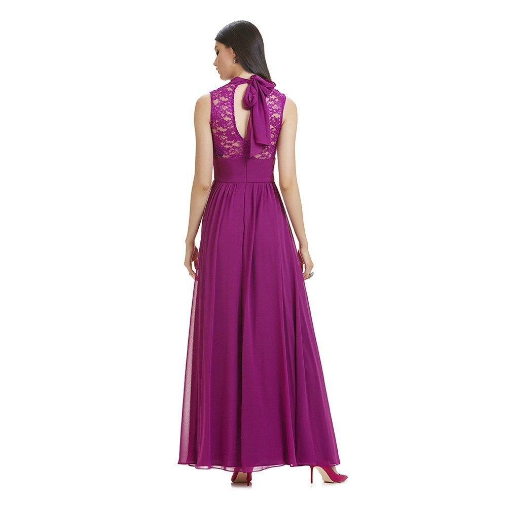 Claudia vestido largo encaje escote espalda