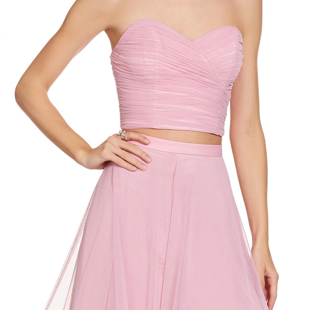 Cloe vestido largo dos piezas y crop-top