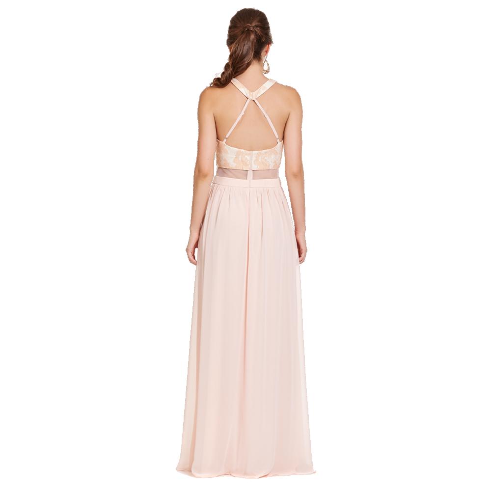 Cyntia vestido largo sin manga espalda descubierta