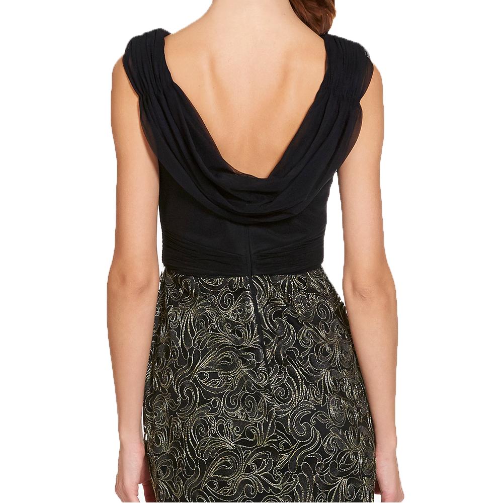 Gina vestido largo falda bordada