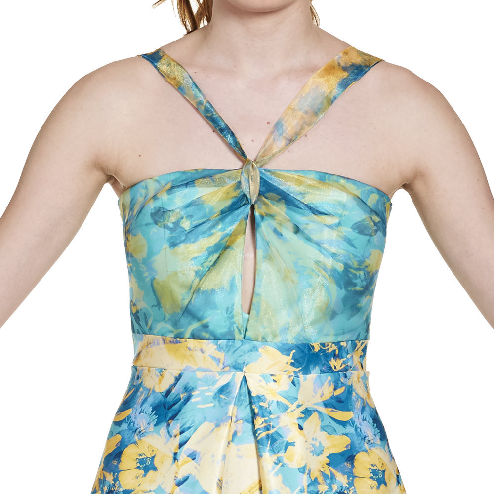 Irene vestido largo cut-out