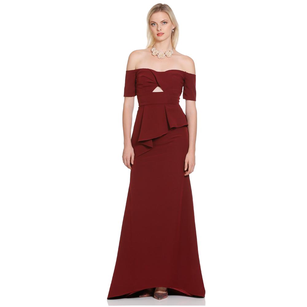 Iva vestido largo off-shoulder