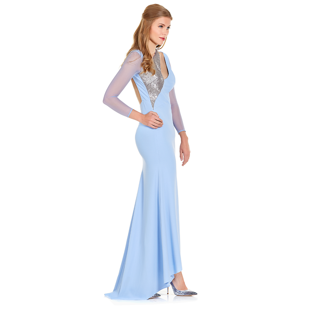 Kenya vestido largo de manga larga