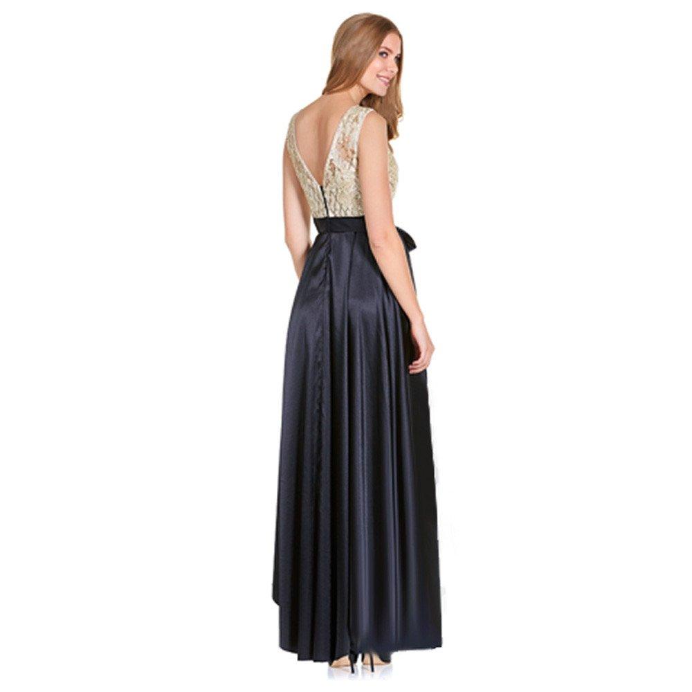 Lara vestido largo encaje y raso de novia