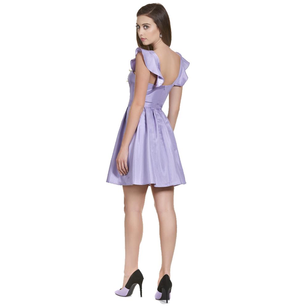 Leonora vestido corto escote corazon