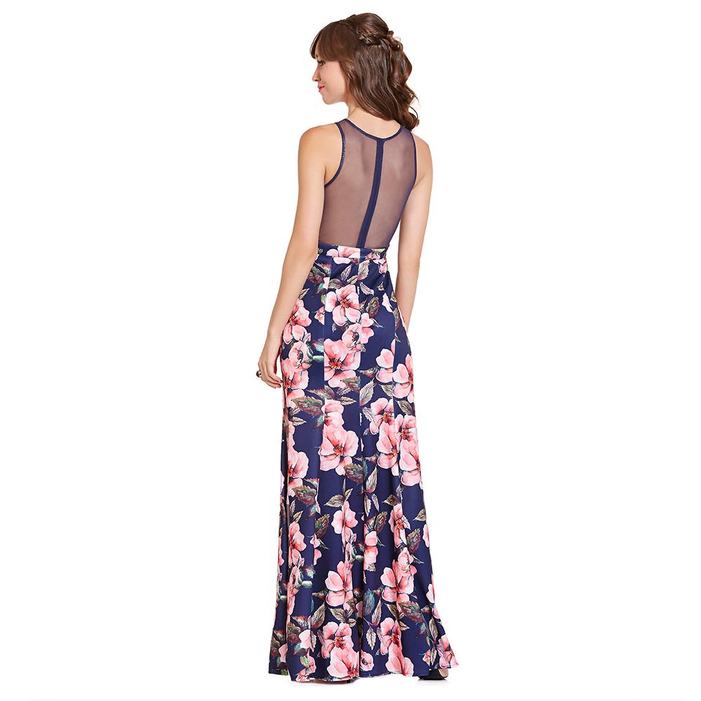 Luz vestido largo estampado floral