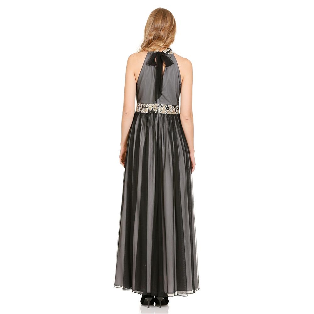 Mia vestido largo tipo halter