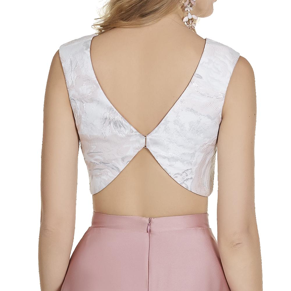 Naomi vestido largo crop-top