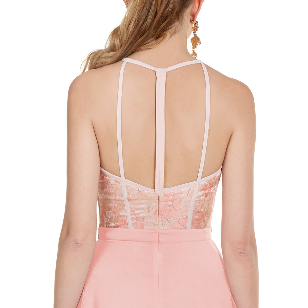 Paulina vestido midi espalda descubierta
