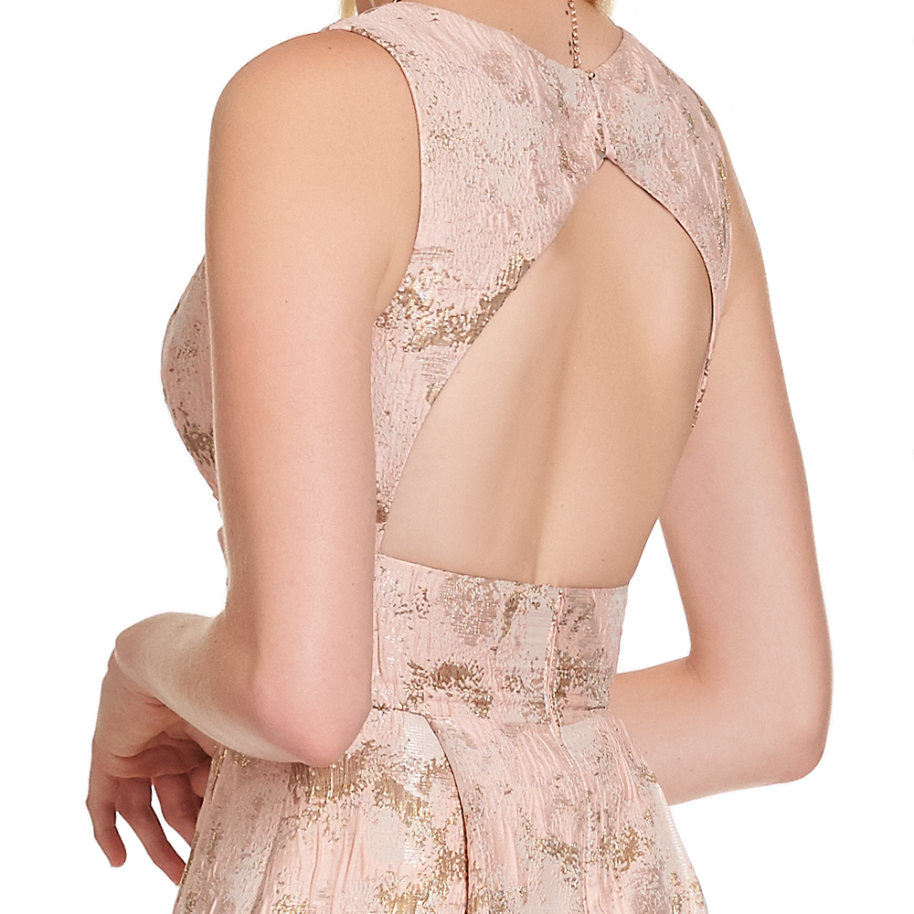 Romina vestido asimetrico floral