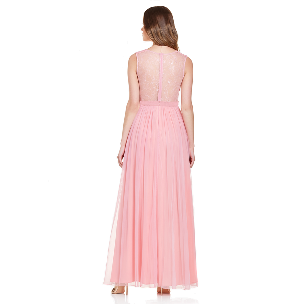 Salma vestido largo escote V plisado