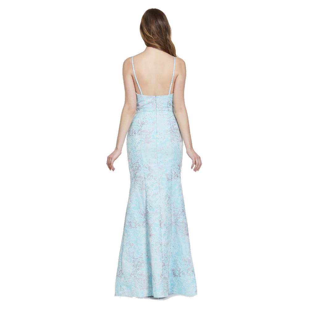 Sheila vestido largo falda abierta