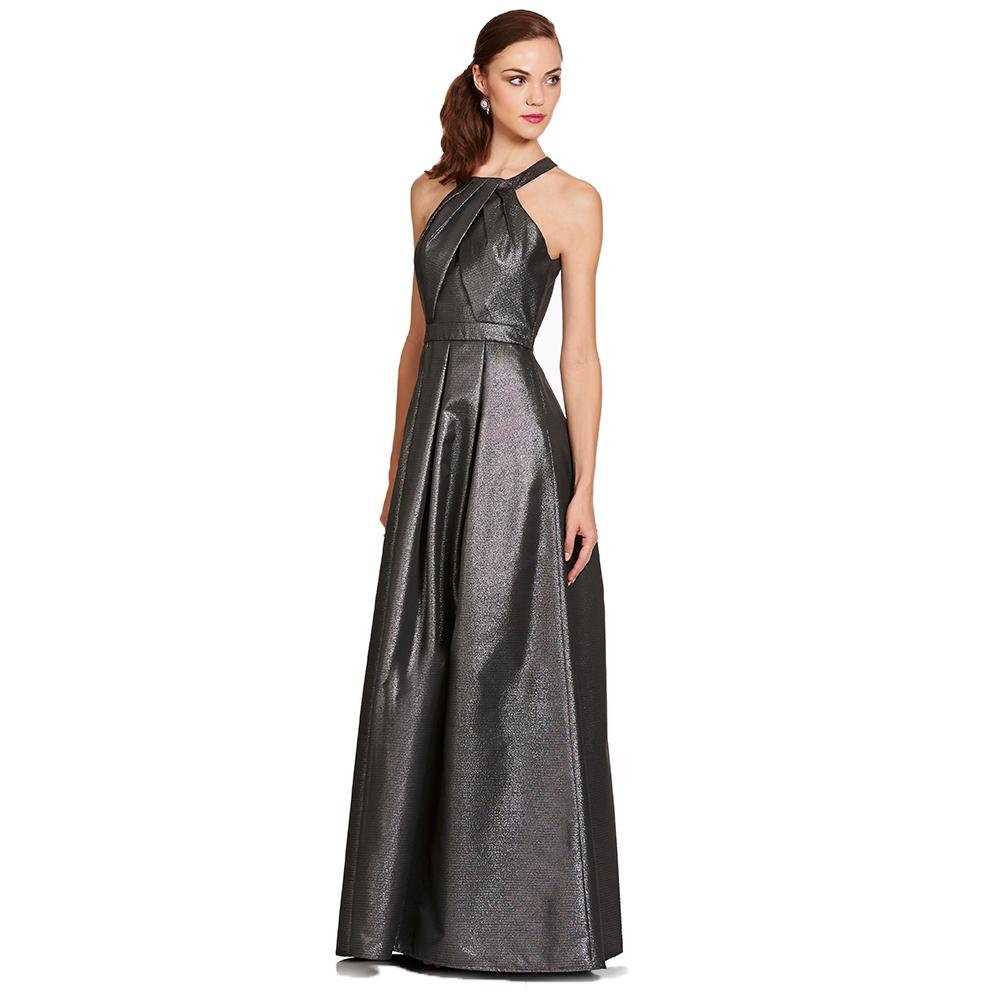 Tamara vestido largo metalico