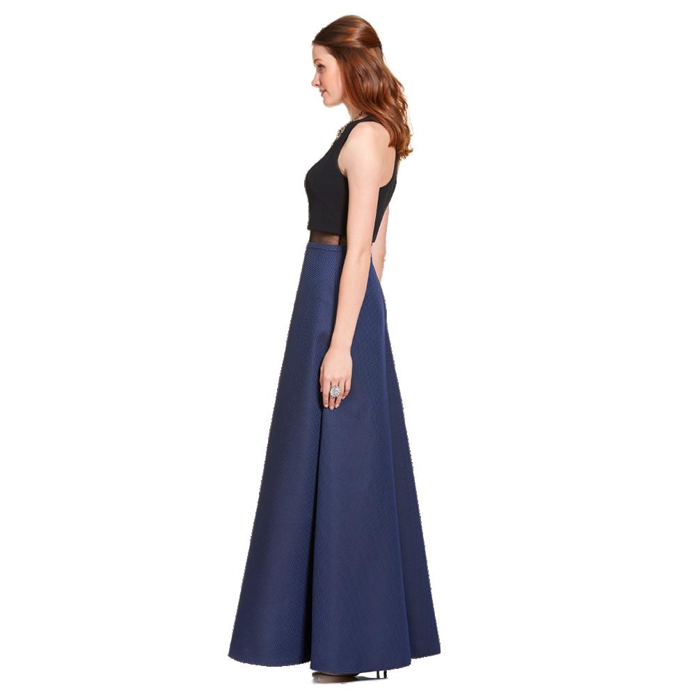 Vanessa vestido largo sin manga