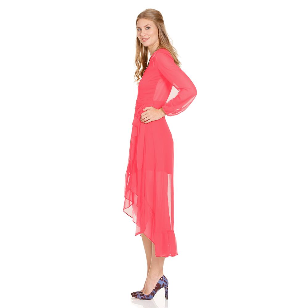Ximena vestido asimetrico manga larga