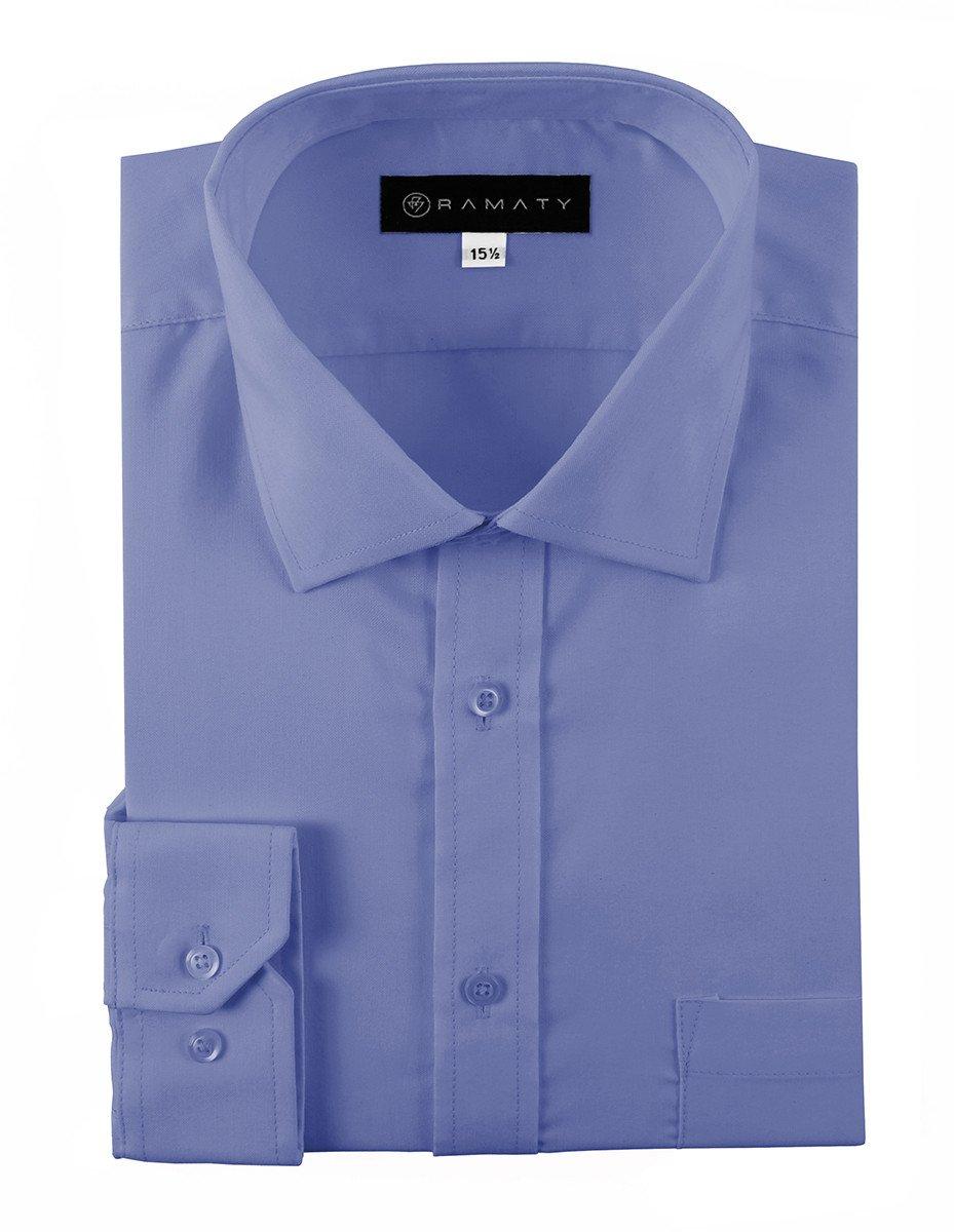 Camisa De Vestir Caballero Lisa Color Azul
