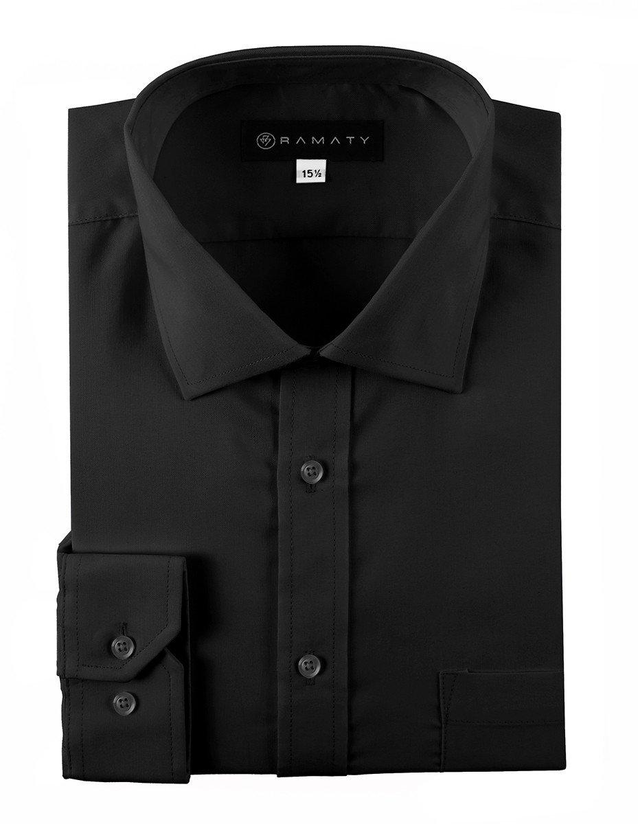 Camisa De Vestir Caballero Lisa Color Negra