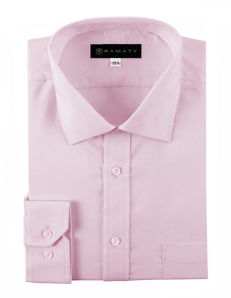 Camisa De Vestir Caballero Lisa Color Rosa
