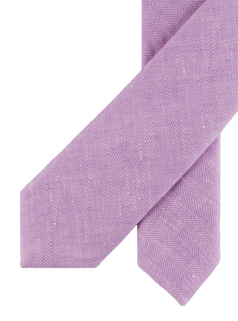 Corbata de lino lila