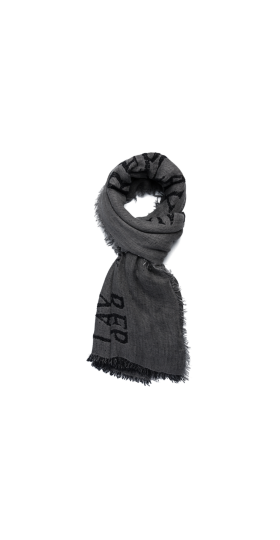SCARF WITH REPLAY PRINT