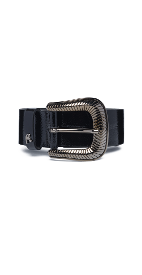 SMOOTH BELT WITH REPLAY BUCKLE