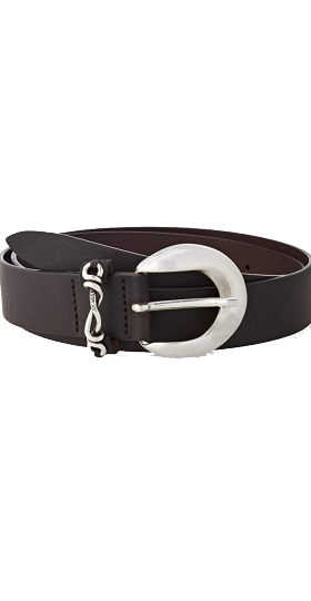 LEATHER BELT WITH CHAIN