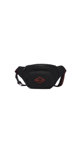 REPLAY WAIST BAG WITH EMBOSSED EFFECT