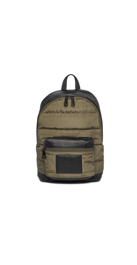 QUILTED NYLON BACKPACK